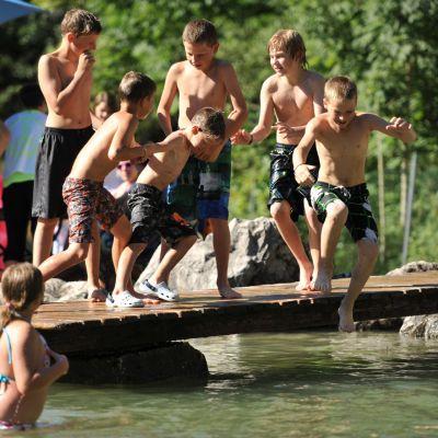 Spaß und Action am Badesee